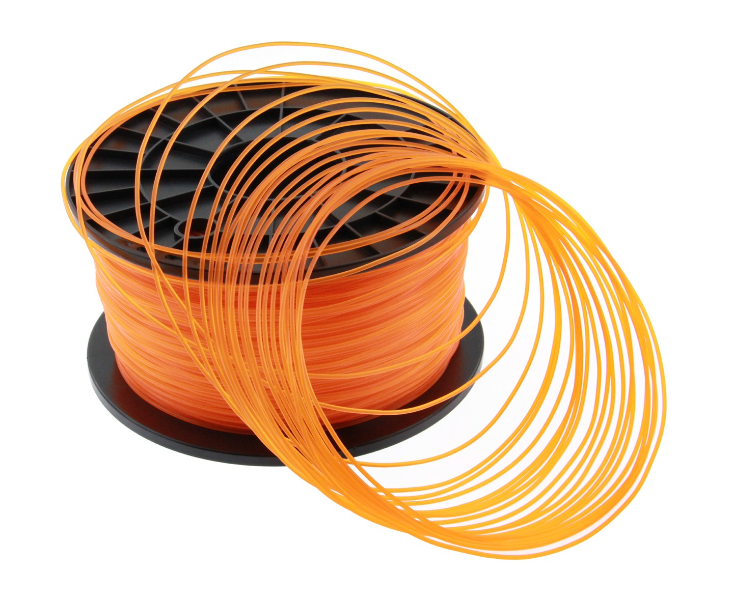 Filament PLA imprimante 3D ORANGE TRANSPARENT 1.75mm