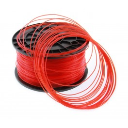 Filament PLA imprimante 3D  ROUGE TRANSPARENT 1.75mm